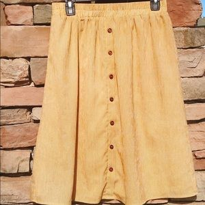 Mika rose mustard knee length skirt